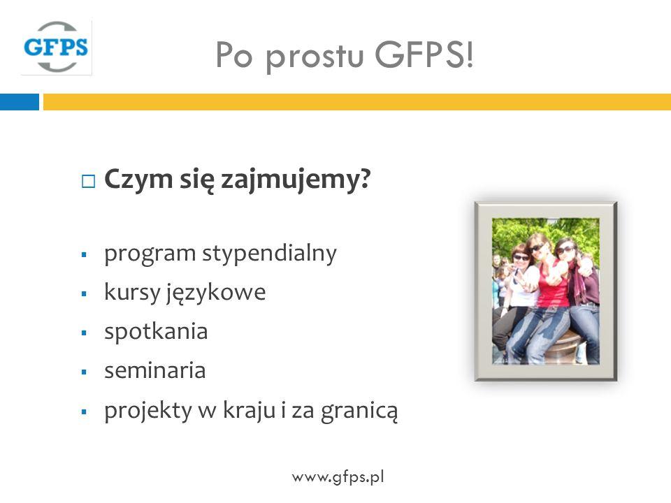 Po prostu GFPS! Czym się zajmujemy program stypendialny