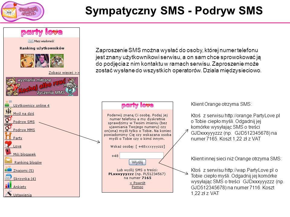 Sympatyczny SMS - Podryw SMS