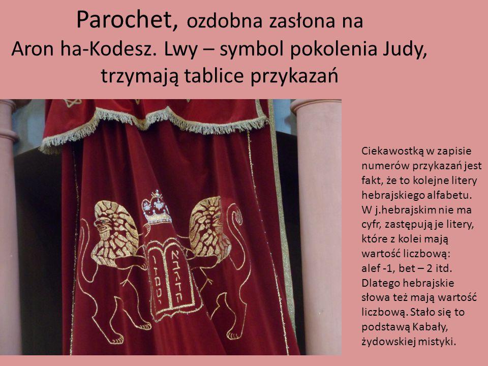Parochet, ozdobna zasłona na Aron ha-Kodesz