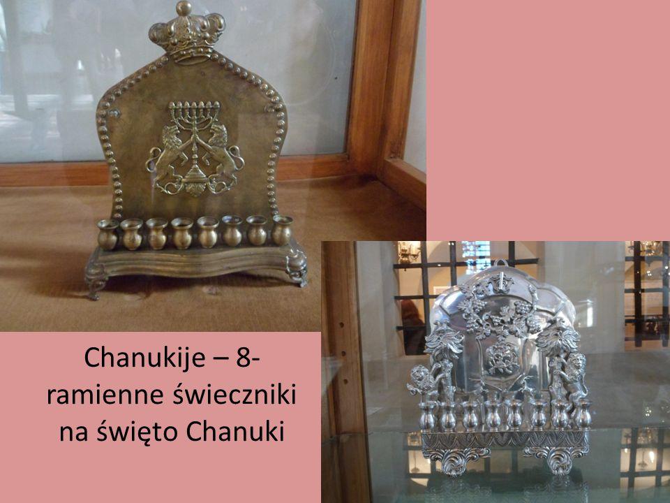 Chanukije – 8-ramienne świeczniki na święto Chanuki