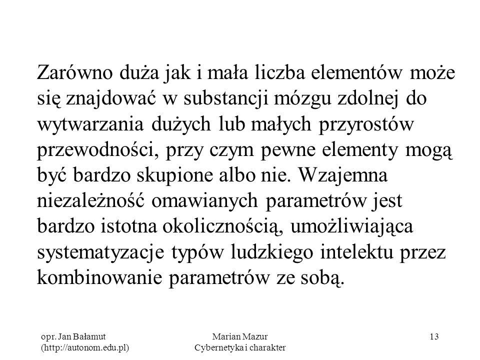 Marian Mazur Cybernetyka i charakter