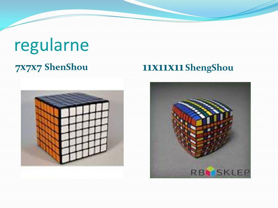 regularne 7x7x7 ShenShou 11x11x11 ShengShou
