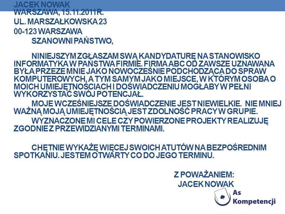 ul. Marszałkowska 23 00-123 Warszawa