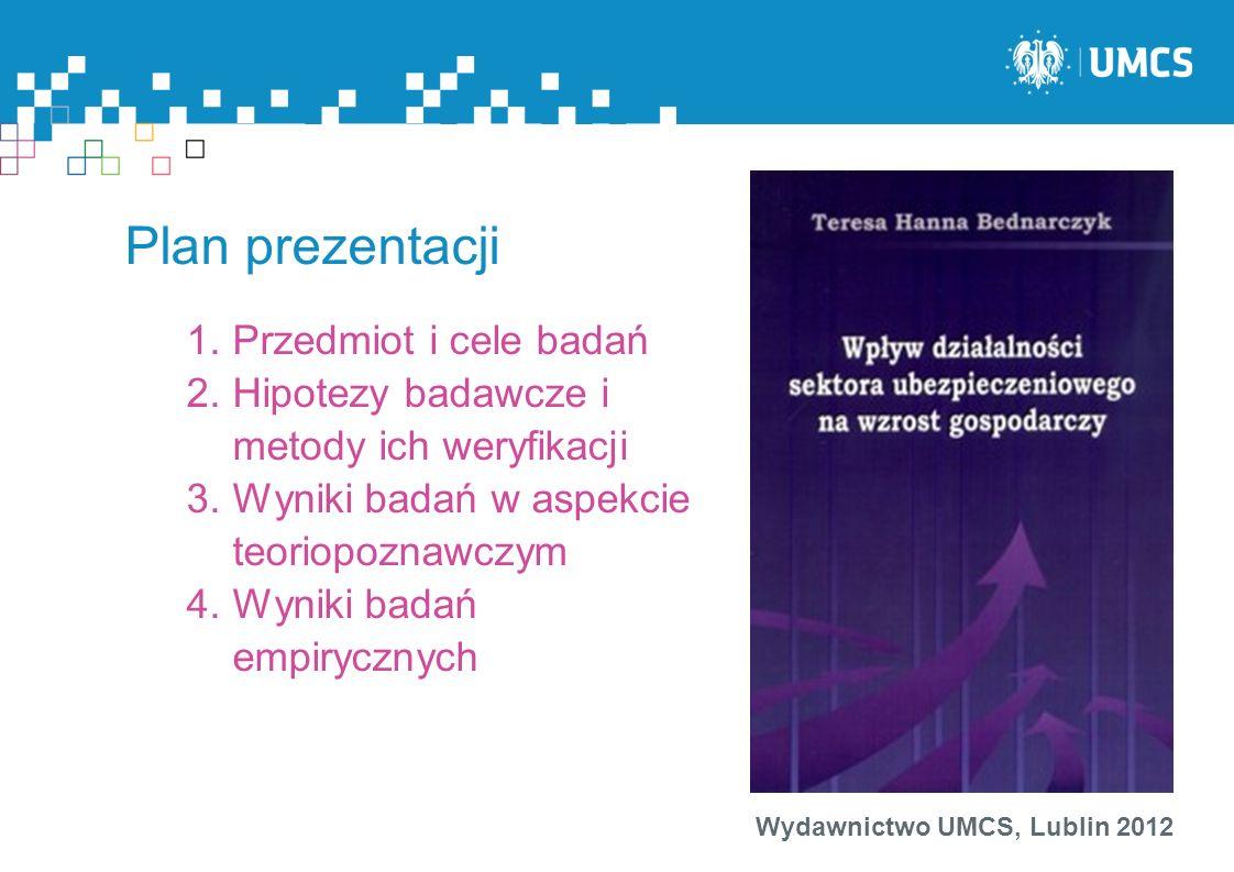 Plan prezentacji Przedmiot i cele badań