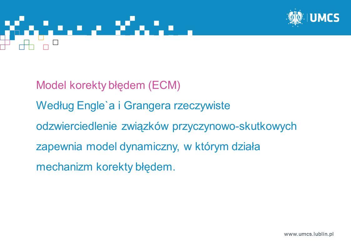 Model korekty błędem (ECM)