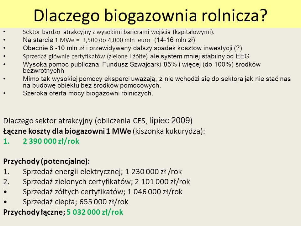 Dlaczego biogazownia rolnicza