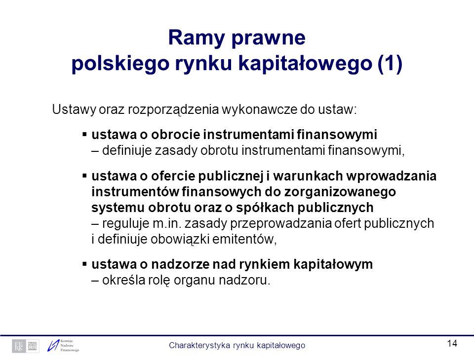 Ramy prawne polskiego rynku kapitałowego (1)