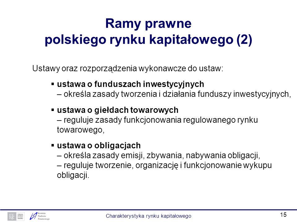 Ramy prawne polskiego rynku kapitałowego (2)