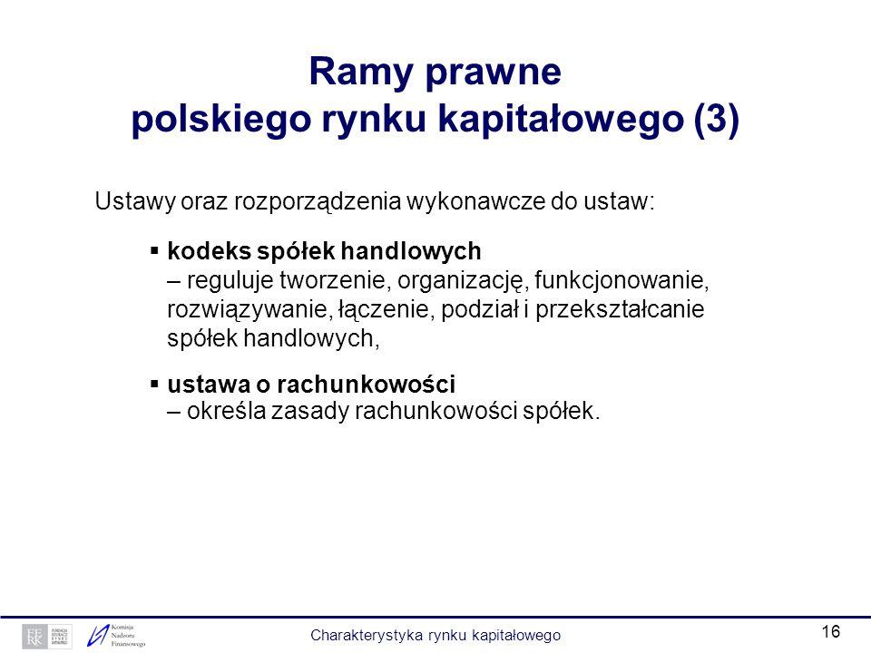 Ramy prawne polskiego rynku kapitałowego (3)