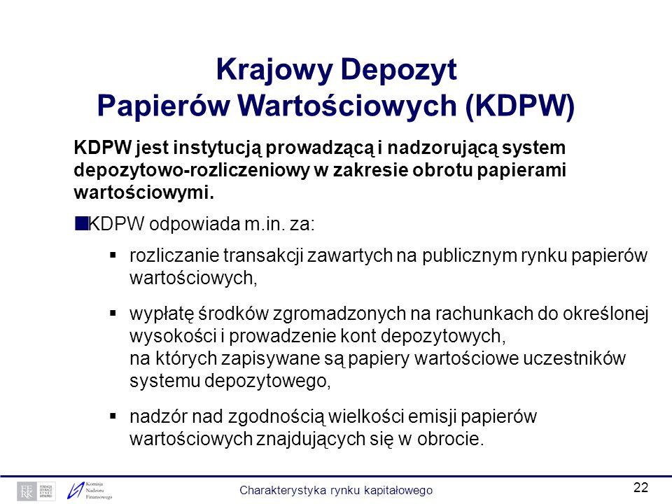 Krajowy Depozyt Papierów Wartościowych (KDPW)