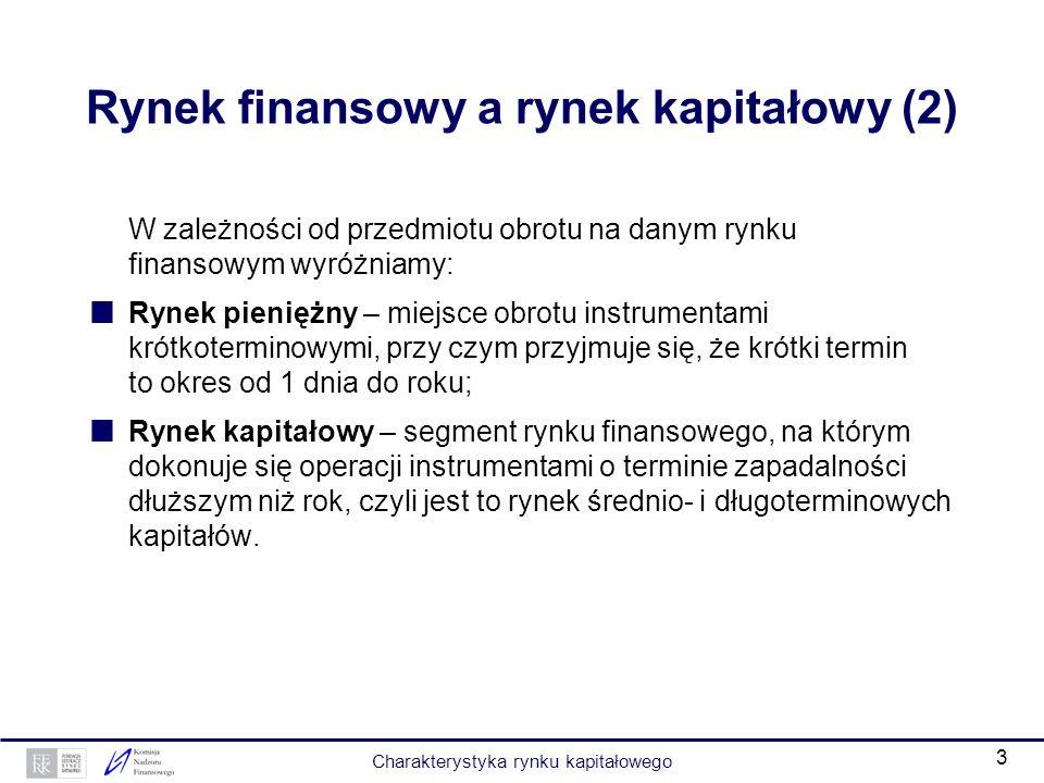 Rynek finansowy a rynek kapitałowy (2)