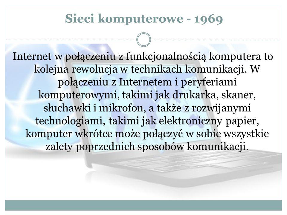Sieci komputerowe - 1969