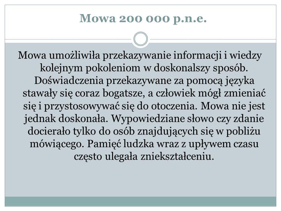 Mowa 200 000 p.n.e.