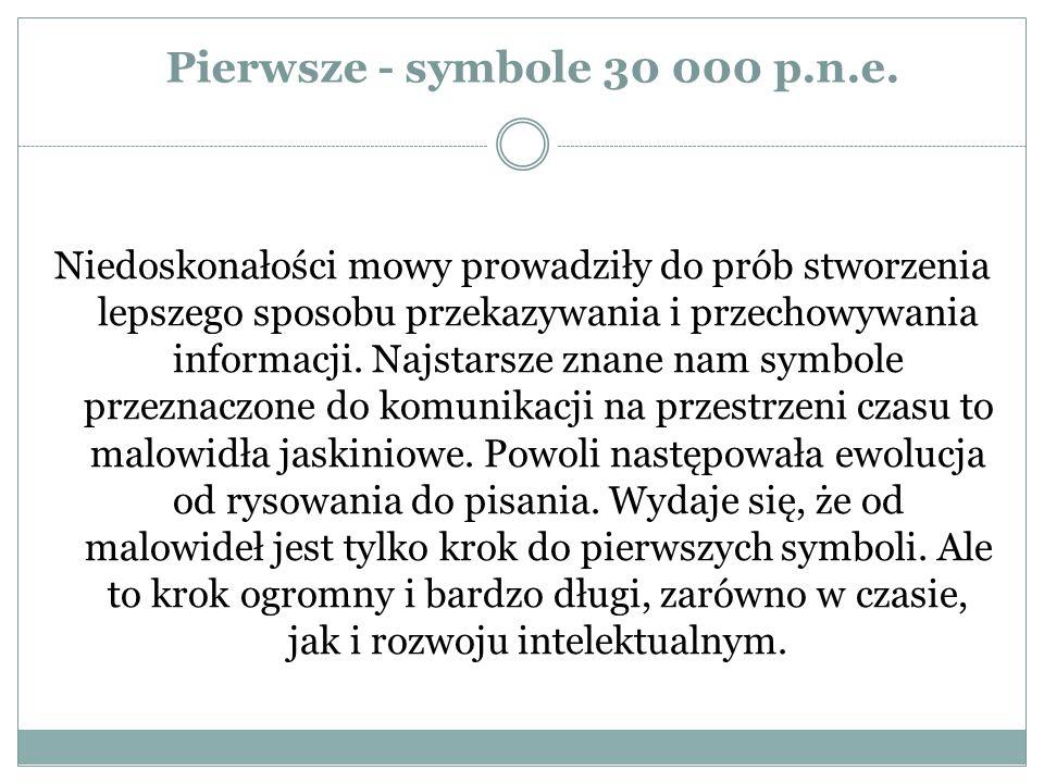 Pierwsze - symbole 30 000 p.n.e.
