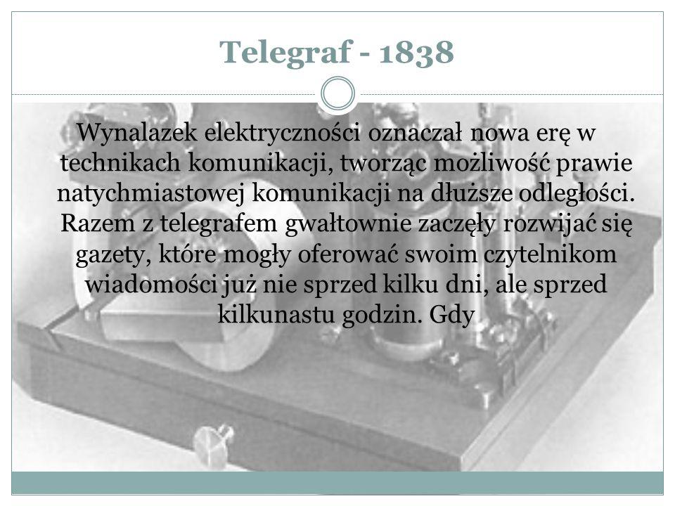 Telegraf - 1838
