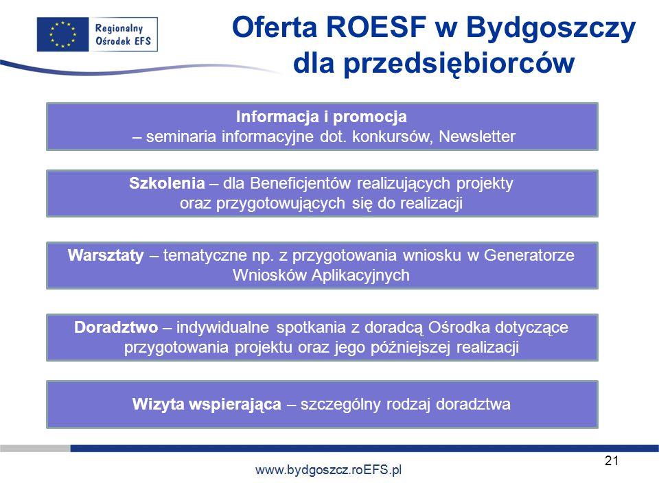 Oferta ROESF w Bydgoszczy dla przedsiębiorców