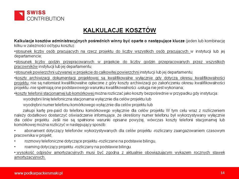 2012-12-05 KALKULACJE KOSZTÓW.