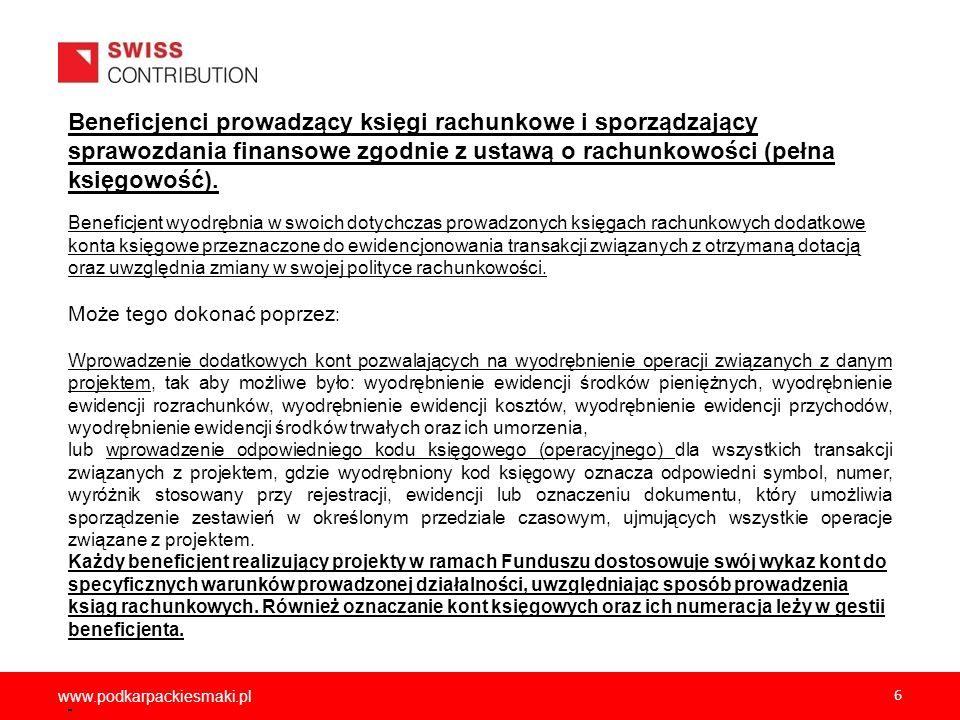 2012-12-05 Beneficjenci prowadzący księgi rachunkowe i sporządzający sprawozdania finansowe zgodnie z ustawą o rachunkowości (pełna księgowość).