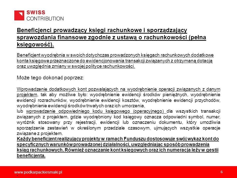 2012-12-05Beneficjenci prowadzący księgi rachunkowe i sporządzający sprawozdania finansowe zgodnie z ustawą o rachunkowości (pełna księgowość).