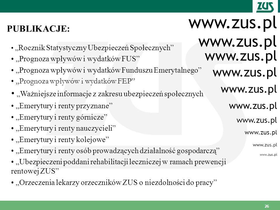 www.zus.pl www.zus.pl www.zus.pl www.zus.pl www.zus.pl PUBLIKACJE: