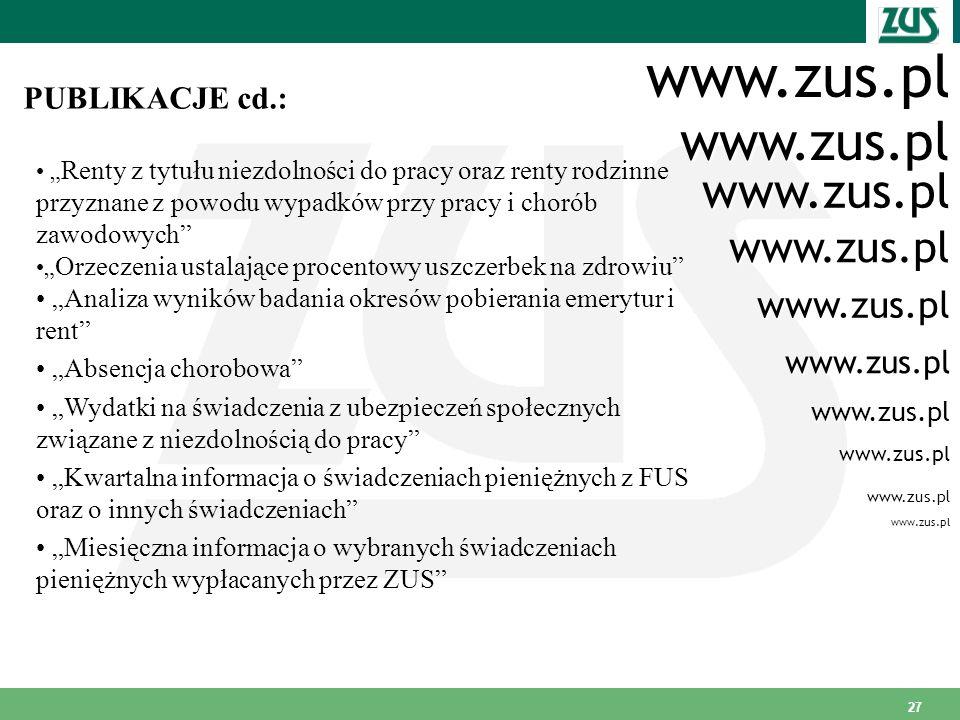 www.zus.pl www.zus.pl www.zus.pl www.zus.pl www.zus.pl PUBLIKACJE cd.: