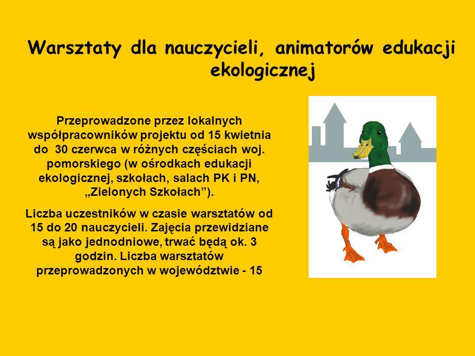 Warsztaty dla nauczycieli, animatorów edukacji ekologicznej