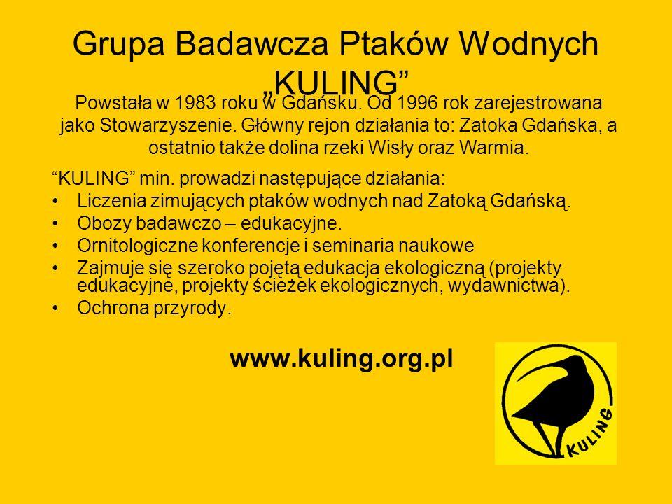 """Grupa Badawcza Ptaków Wodnych """"KULING"""