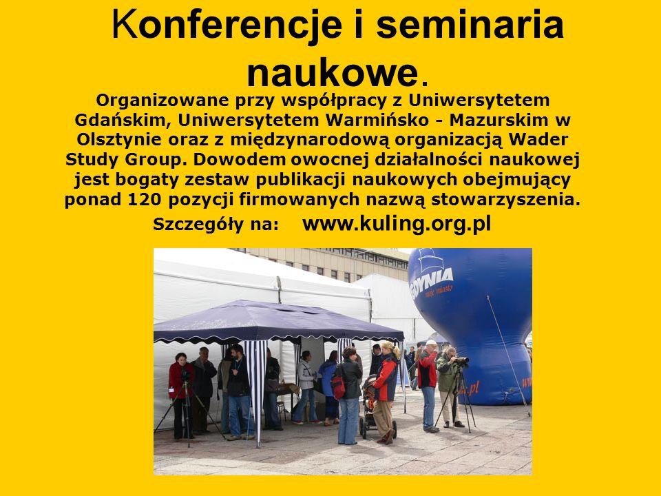 Konferencje i seminaria naukowe.