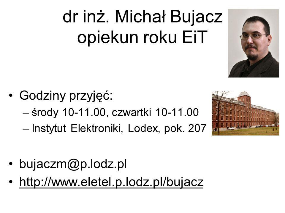 dr inż. Michał Bujacz opiekun roku EiT