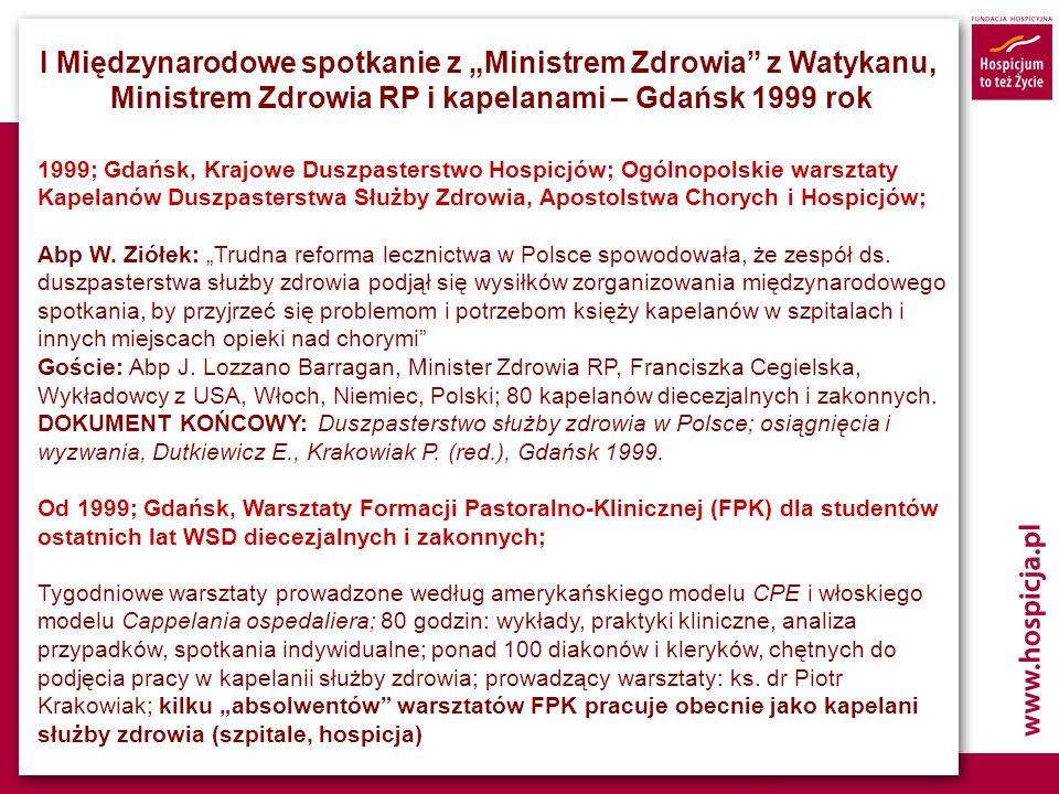 """I Międzynarodowe spotkanie z """"Ministrem Zdrowia z Watykanu,"""