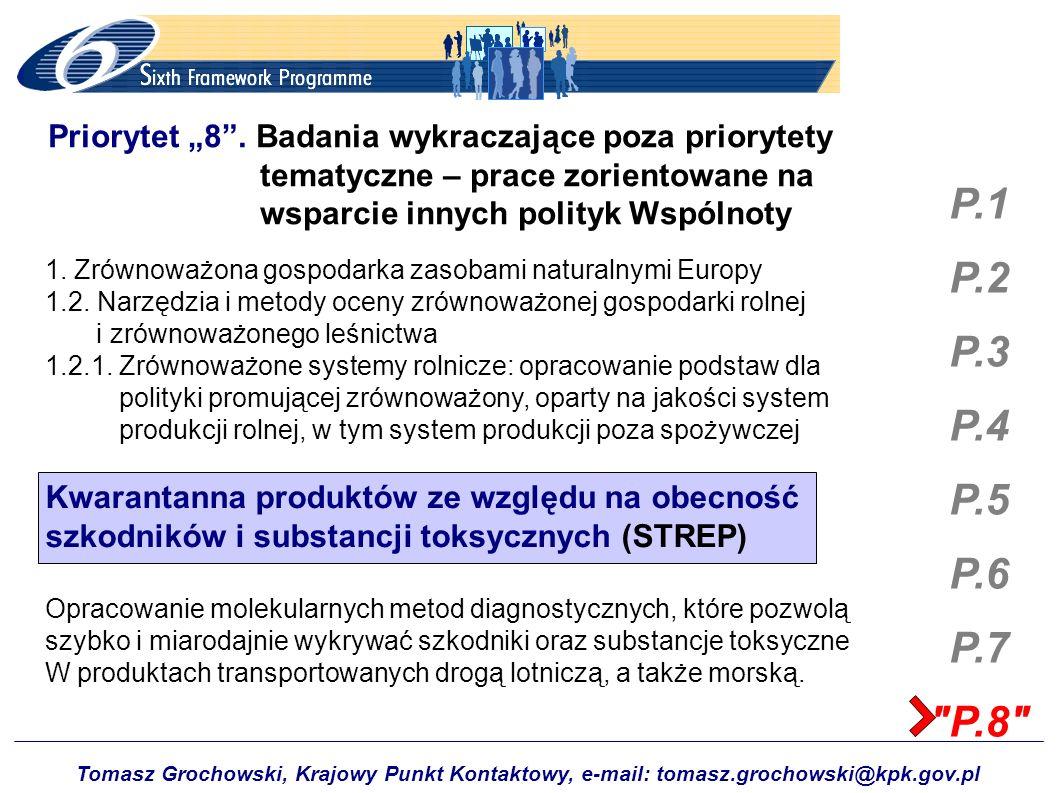 """Priorytet """"8 . Badania wykraczające poza priorytety"""