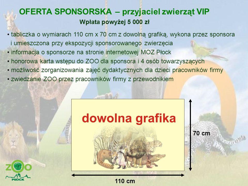 OFERTA SPONSORSKA – przyjaciel zwierząt VIP