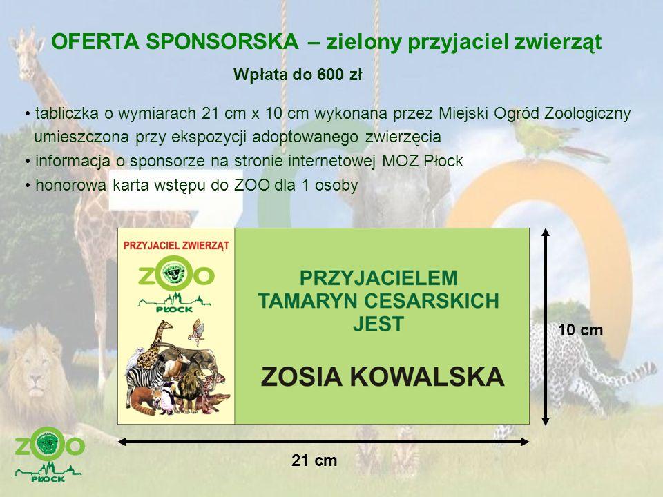 OFERTA SPONSORSKA – zielony przyjaciel zwierząt