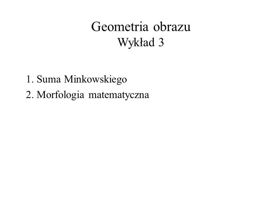 Geometria obrazu Wykład 3