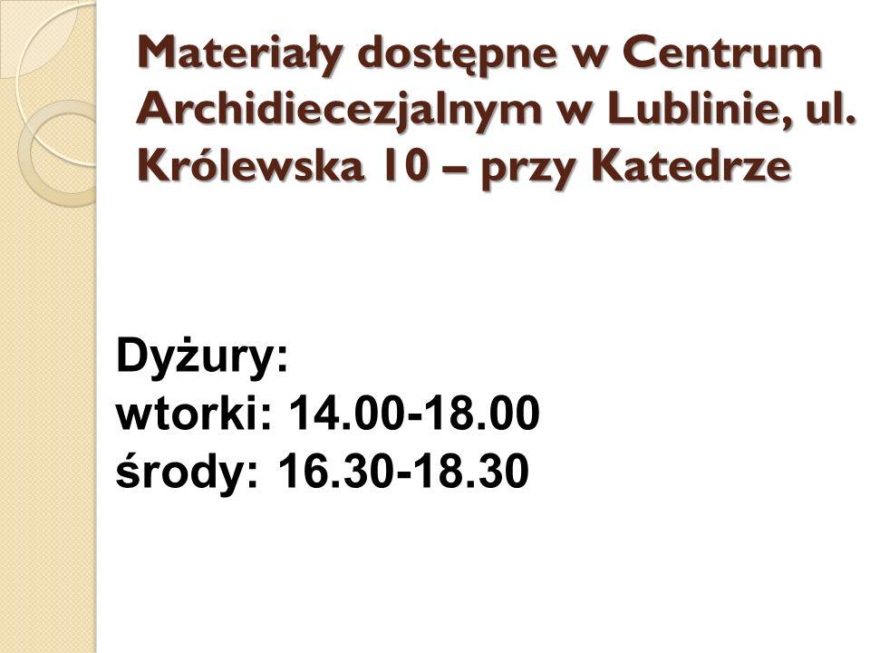 Dyżury: wtorki: 14.00-18.00 środy: 16.30-18.30