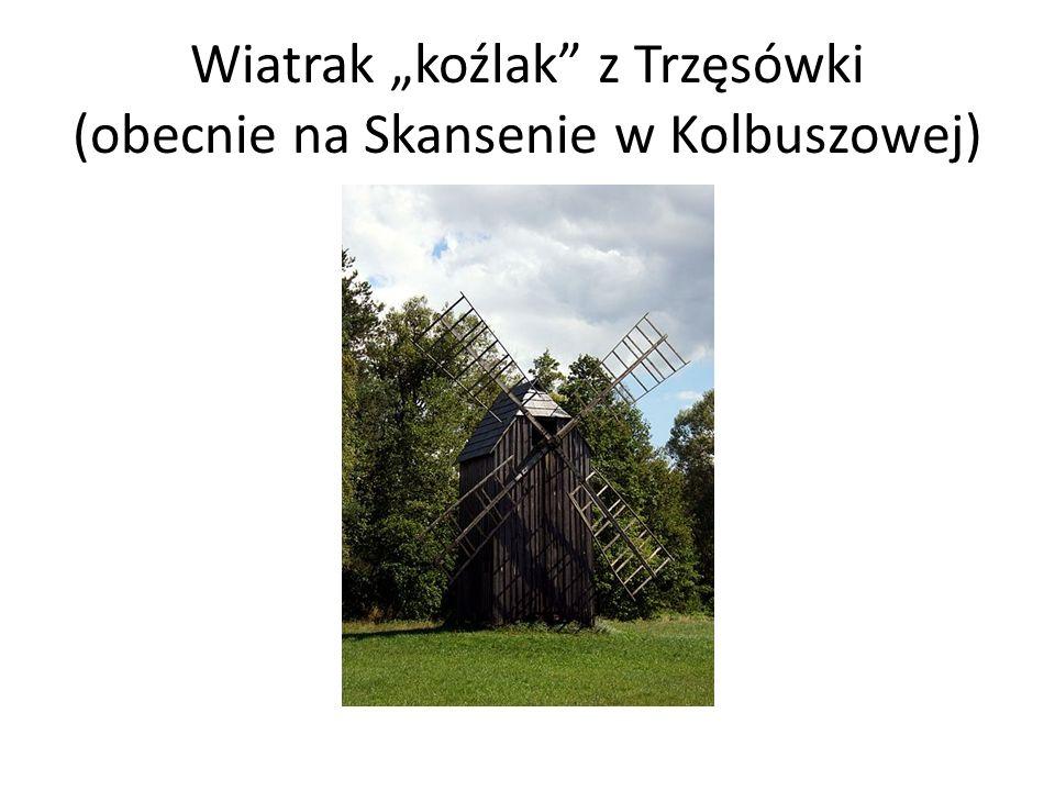 """Wiatrak """"koźlak z Trzęsówki (obecnie na Skansenie w Kolbuszowej)"""