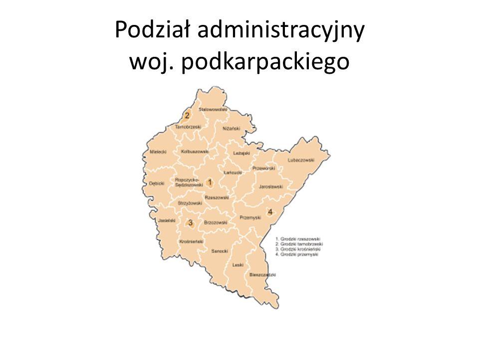 Podział administracyjny woj. podkarpackiego