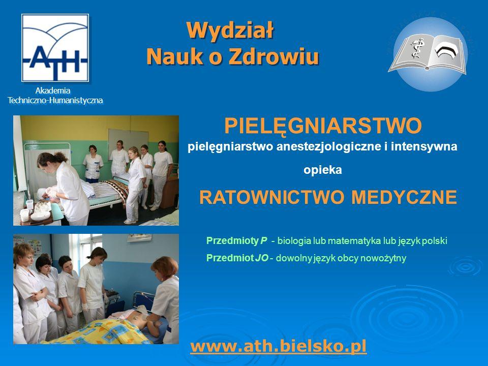 pielęgniarstwo anestezjologiczne i intensywna opieka