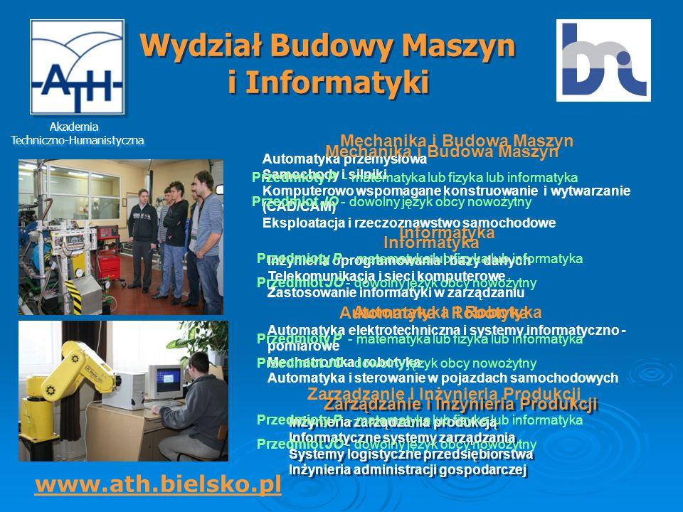 Wydział Budowy Maszyn i Informatyki