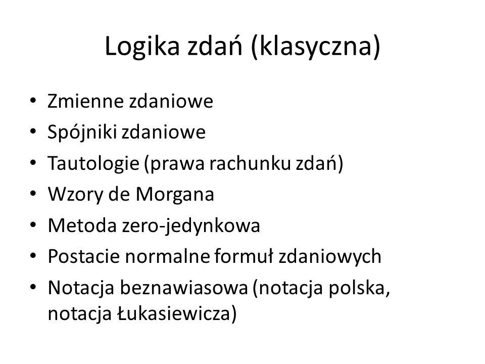 Logika zdań (klasyczna)