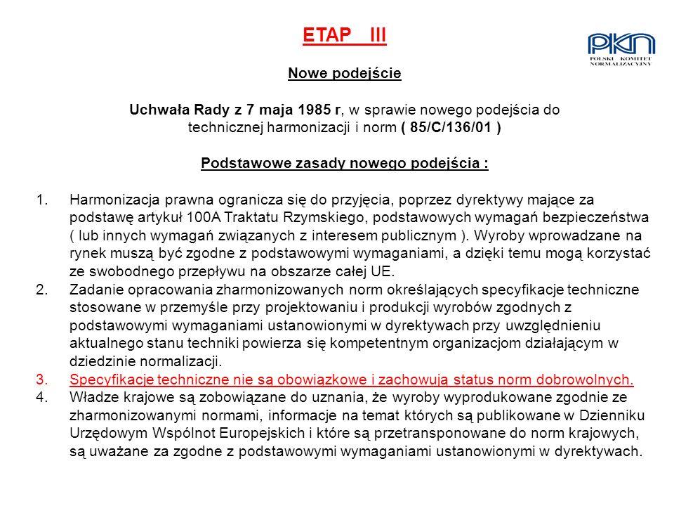 ETAP III Nowe podejście