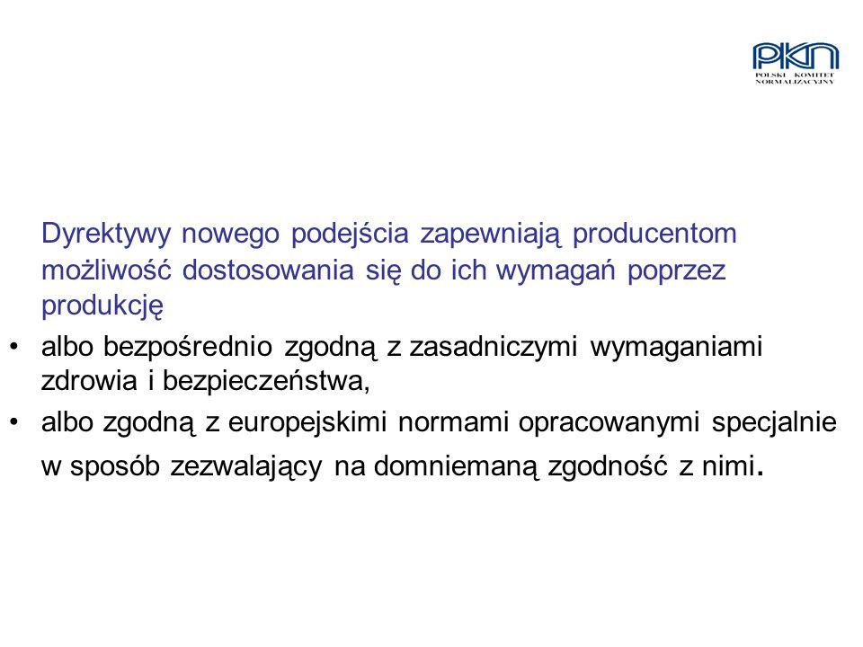Dyrektywy nowego podejścia zapewniają producentom możliwość dostosowania się do ich wymagań poprzez produkcję