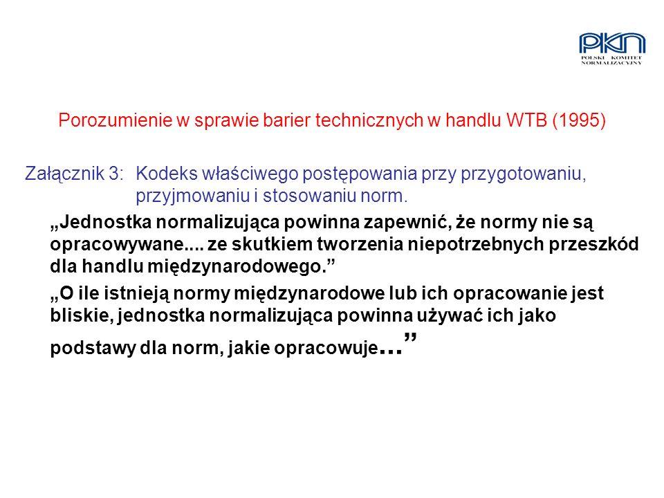 Porozumienie w sprawie barier technicznych w handlu WTB (1995)