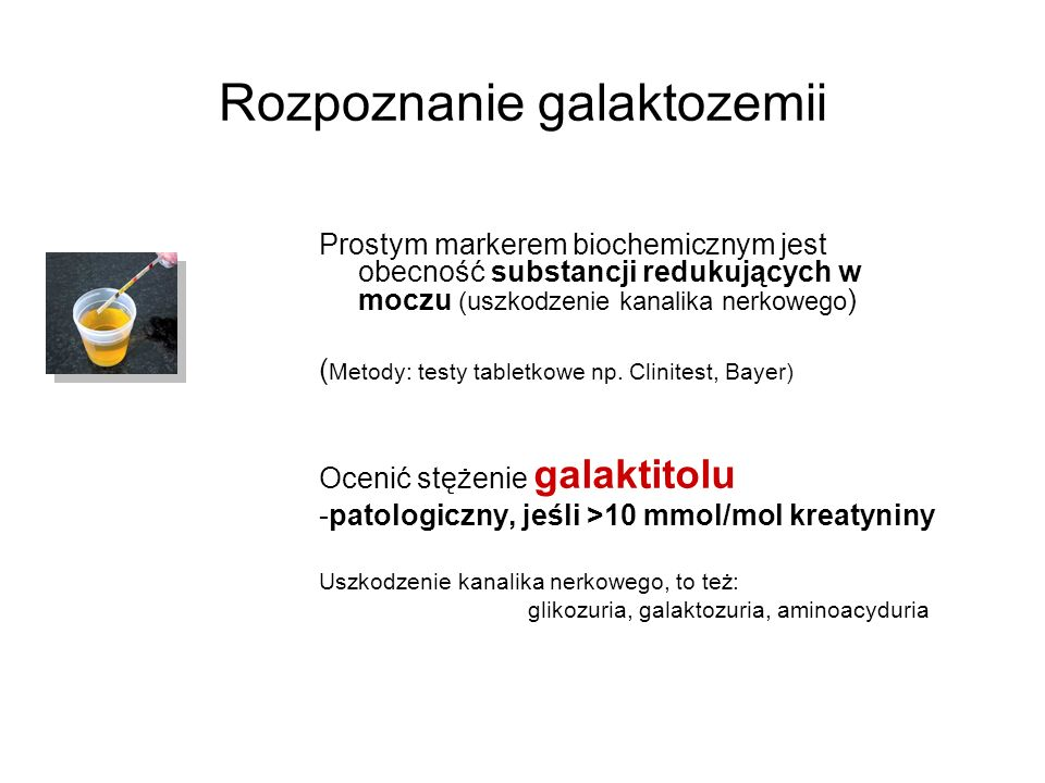 Rozpoznanie galaktozemii