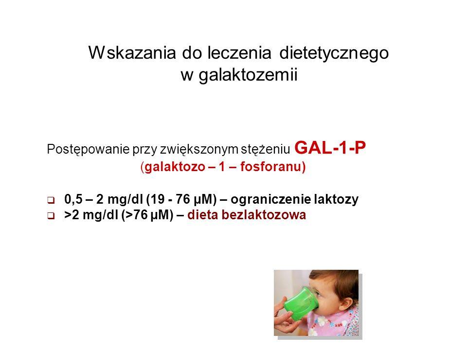 Wskazania do leczenia dietetycznego w galaktozemii