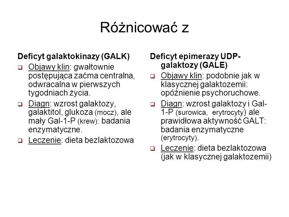 Różnicować z Deficyt galaktokinazy (GALK)