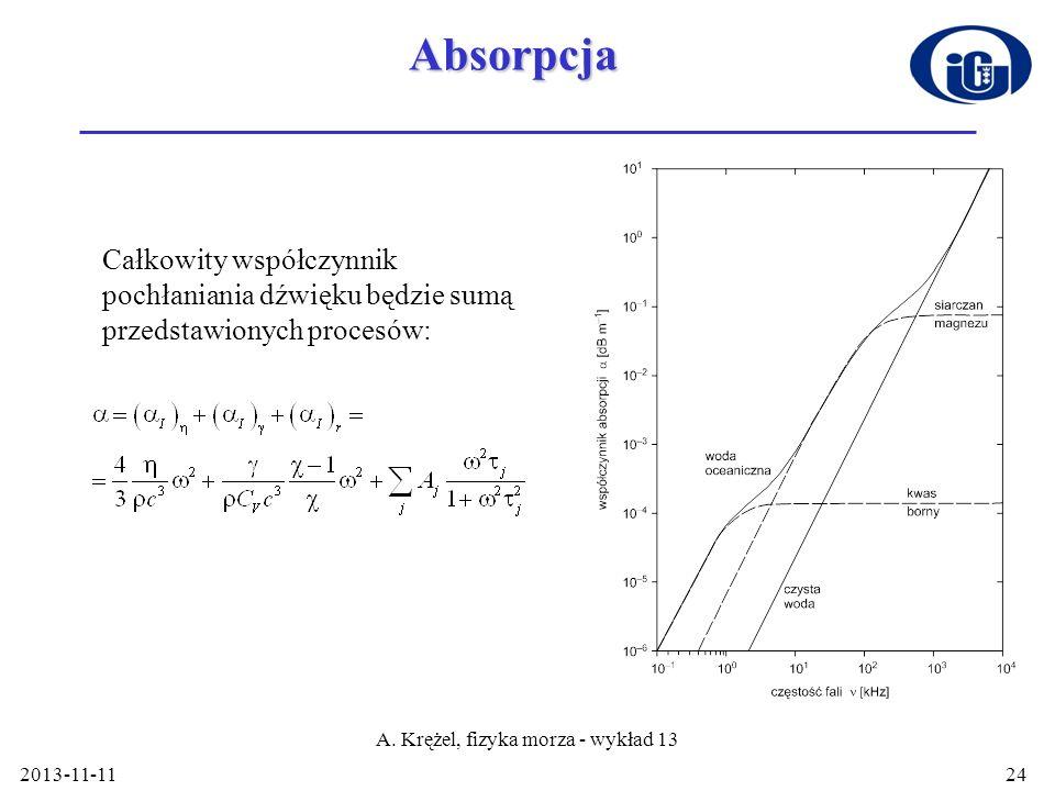 A. Krężel, fizyka morza - wykład 13