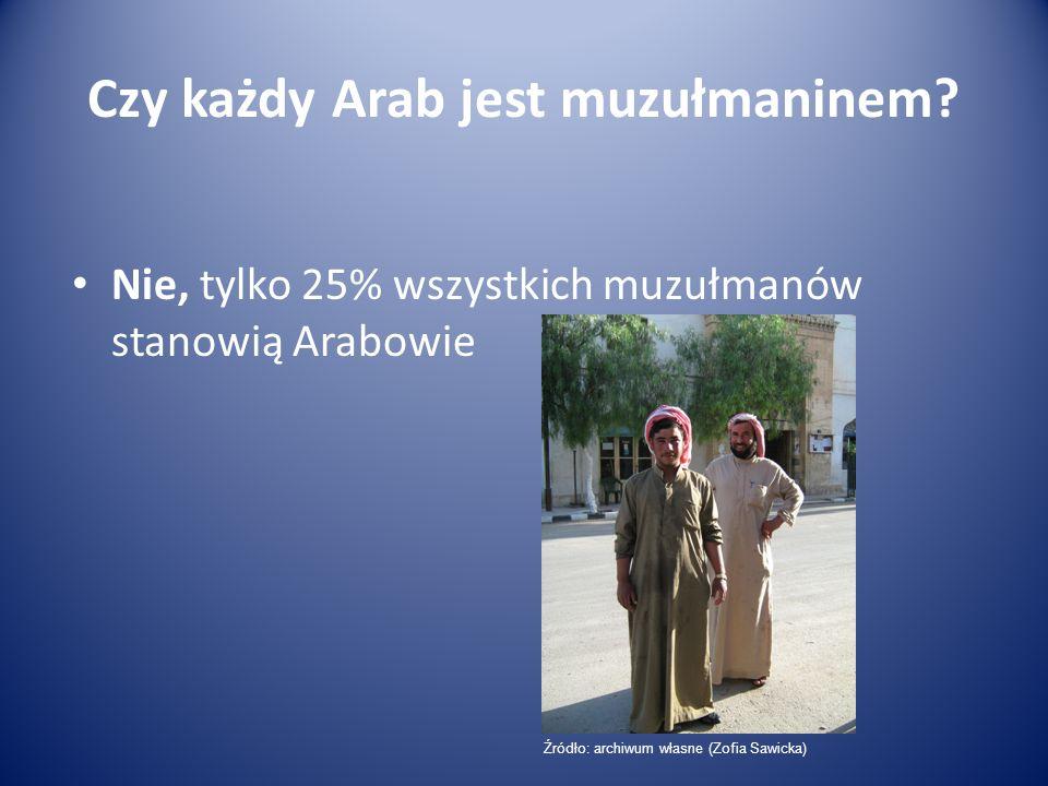 Czy każdy Arab jest muzułmaninem