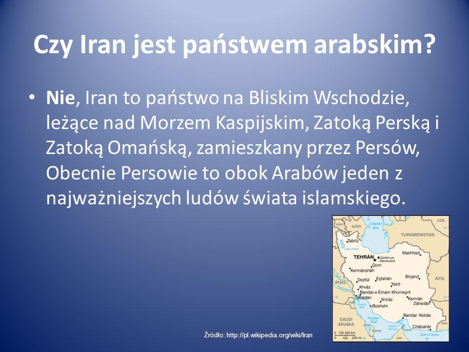 Czy Iran jest państwem arabskim