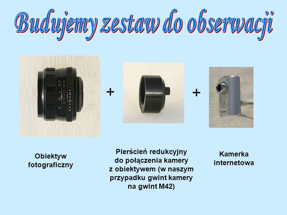 Budujemy zestaw do obserwacji Obiektyw fotograficzny